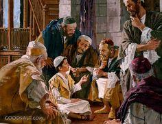 El Niño Jesus Impartiendo enseñanzas en el Templo- Christian Wall Art