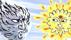 The Wind and the Sun: Learn English (UK) with subtitles - Story for Chil...