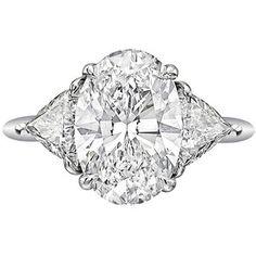 Beautiful oval cut diamond engagement ring