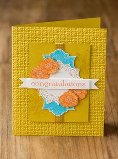 Inspiring color combination and the Everything Eleanor stamp set.