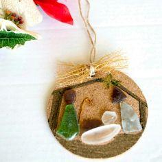 Handmade Christmas Ornaments 3 piece set.