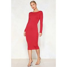 Nasty Gal Long Time Coming Maxi Dress ($14) ❤ liked on Polyvore featuring dresses, red, long dresses, bodycon dress, white maxi dress, white body con dress and bodycon maxi dresses