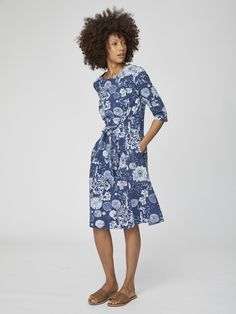 Buy Thought Blue Kikii Dress from the Next UK online shop Cotton Dresses, Blue Dresses, Summer Dresses, Friend Outfits, Fashion Sale, Princess Seam, Spring Collection, Dress P, Dresses For Sale