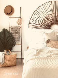 #diy diy bamboo fan headboard Bamboo Headboard, Bamboo House Design, Bamboo Room Divider, Bamboo Wall, Bamboo Crafts, Bamboo Furniture, Room Color Schemes, Diy Coffee Table, Room Ideas Bedroom