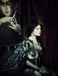 Publication: Vogue Italia March 2014 Model: Guinevere Van Seenus Photographer: Paolo Roversi Fashion Editor: Julien D'Ys