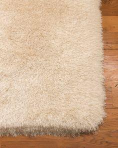 Lauryn Shag Hand-Woven Ivory Area Rug
