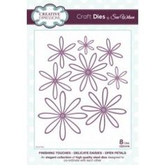 Sue Wilson Dies - Finishing Touches Collection Delicate Daisies - Open Petal Die