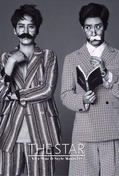 Kyu Hyun and Zhou Mi - The Star Magazine April Issue '14