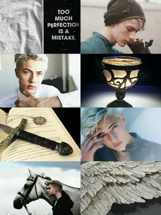 "Shadowhunter Aesthetics: Sebastian Morgenstern ""Sebastian took after his father in appearance, looking very much like a young Valentine. He was tall and muscular and had a slightly slender frame. He had platinum white hair, which gave his pale skin some color, and very dark, black eyes. He had a pale, restless face with high cheekbones. Sebastian also inherited Jocelyn's slender, graceful hands, and her long eyelashes."""