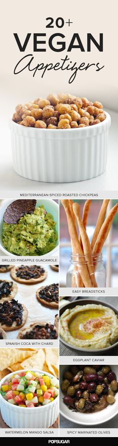 Vegan Appetizers to Start Any Dinner Party Off Right is part of Vegan appetizers Summer - Many holiday party hosts get nervous when they hear the word vegan spoken by a potential guest, but there's no need to fear vegan cooking There Vegan Apps, Vegan Foods, Vegan Snacks, Vegan Dishes, Healthy Snacks, Healthy Eating, Veggie Recipes, Whole Food Recipes, Vegetarian Recipes