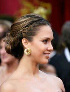 Jessica Alba elegant formal updo,  Go To www.likegossip.com to get more Gossip News!