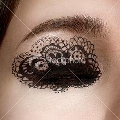 lace eye - airbrush