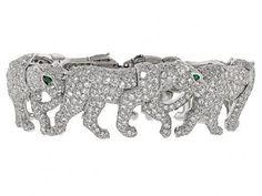 Cartier Diamond Walking Panther Bracelet in 18K