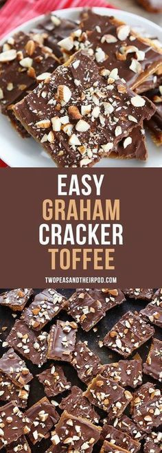 Easy Graham Cracker Toffee is the perfect holiday treat! You only need 5 ingredi.- Easy Graham Cracker Toffee is the perfect holiday treat! You only need 5 ingredi… Easy Graham Cracker Toffee is the perfect holiday treat! Biscuits Au Caramel, Biscuits Graham, Dessert Simple, Holiday Baking, Christmas Baking, Christmas Holidays, Christmas Recipes, Christmas Desserts, Modern Christmas