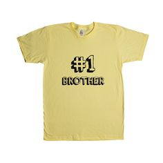 Number 1 Brother Sibling Dad Dads Father Fathers Grandparents Grandfather Children Kids Parent Parents Parenting Unisex Adult T Shirt SGAL3 Unisex T Shirt