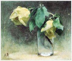 Helena Sofia Schjerfbeck (Finnish, 1862 - 1946) «Roses» 1888