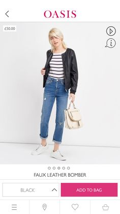 I just had to share my wish list with you! https://www.oasis-stores.com/gb/coats-and-jackets/faux-leather-bomber/061691.html?cgid=coats-and-jackets-all&dwvar_061691_color=01