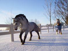toy horse & snow