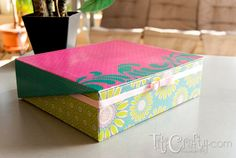 Mod Podge Boxes | Mod Podge Box for my Cards - Titicrafty by Camila