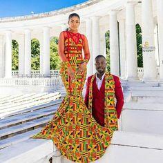 African dress Ankara dress African print dress African fashion African dress styles 2018 Ankara Styles 2018 African prom dress Ankara for couples African Wedding Attire, African Attire, African Wear, African Women, African Dress, African Style, African Weddings, Nigerian Weddings, African Print Wedding Dress
