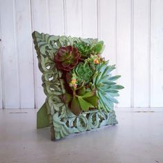 Vertical Succulent Planter Garden by VerticalFlora on Etsy,