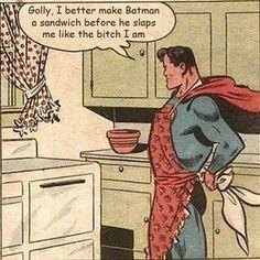 Batman needs a snack.