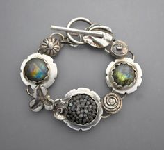 Labradorite Gem Ball Bracelet by Temi on Etsy