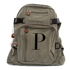 Backpack, Monogram Backpack, Canvas Backpack, Personalized Bridesmaid Gift, Personalized Groomsmen Gift, Womens Backpack, Mens Backpack