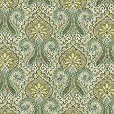 PAISLEY PRINT - ROBERT ALLEN FABRICS ARTICHOKE - Blue - Shop By Color - Fabric - Calico Corners