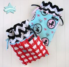 ScrapBusters: Drawstring Gift Bags | Sew4Home