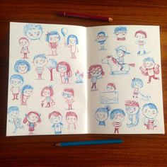More kids. And a pony. #sketchbook #doodle #drawing (c) Linzie Hunter