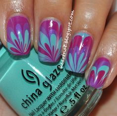 31 Day Nail Challenge--Day 20: Water Marbled