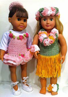 18 Doll Ballerina & Hula Dancer Crochet Patterns von Maggiescrochet