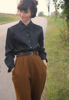 Vintage Bill Blass Chestnut Wool Trousers