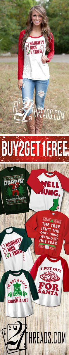 BUY 2 Get 1 FREE... Huge Holiday/Christmas Sale! Only Available at www.21threads.com - Don't Miss Out On Your Chance To Be The Hit Of The Holidays! ~ Cheers