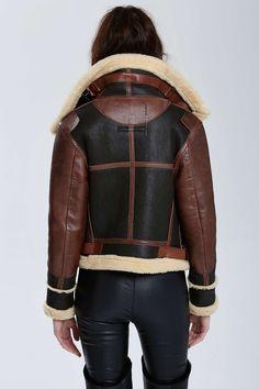 Vintage Balenciaga Palma Leather Aviator Jacket | Shop Vintage Goldmine #3 - Balenciaga at Nasty Gal #streetstyle