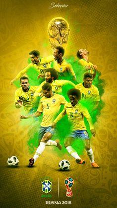 Brazil wallpaper for the 2018 World Cup Finals. Brazil Football Team, Football Is Life, National Football Teams, Football Memes, World Football, Soccer World, Sport Football, World Cup Russia 2018, World Cup 2018