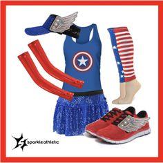"""captain america running costume"" by sparkleathletic ❤ Disney Princess Half Marathon, Disney Marathon, Marathon Running, Marathon Gear, Run Disney Costumes, Running Costumes, Disney Cosplay, Couple Running, Running Gear"