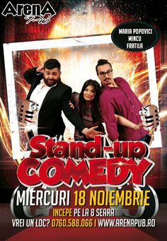 Miercuri, 18 Noiembrie 2015, ora 20:00, Arena Pub, Bucuresti Comedy Show, Stand Up Comedy, Movies, Movie Posters, Film Poster, Films, Popcorn Posters, Film Posters, Movie Quotes