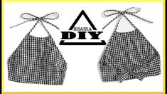 diy sewing clothes How to make a Gingham Crop Top Sewing Tutorials, Sewing Crafts, Sewing Projects, Sewing Patterns, Clothes Patterns, Fashion Sewing, Diy Fashion, Fashion Brands, Diy Kleidung Upcycling