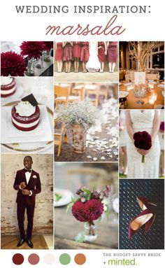 marsala wedding inspiration from @Minted!