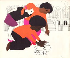 Leo and Diane Dillon illustrations for an early book on a black, female astronaut.  I am a huge fan of theirs and just found out about this.