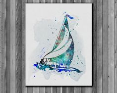 Ship Steering Wheel poster Nautical wall art  by digitalaquamarine