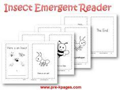 Printable Insect Emergent Reader for #preschool and #kindergarten