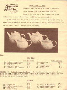 1987 Annual Sale Ad #loosetea #svtea http://www.svtea.com/