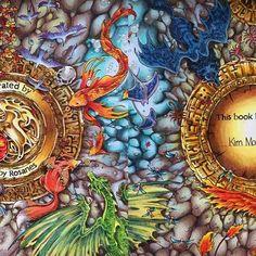 先前Po空白的那張,今天畫好了。 Book: mythomorphia Author: Kerby Rosanes #mythomorphia #kerbyrosanes #adultcolouring #coloring #coloringpencils #coloringbookforadults #adultcoloringbook #prismacolor #carandachemuseum #carandachemuseum #fabercastellpolychromos