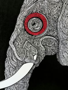 Elephant Ink   random speed drawing here: http://youtu.be/tiZmiHiBBNI
