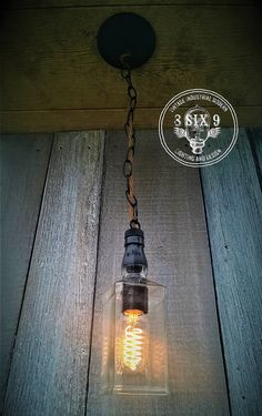 Industrial Upcycled Whiskey Chained Canopy Pendant by 8SIX9Design