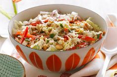 Everyone needs a few salad recipes up their sleeve for potlucks and parties.  Add our Thai Slaw to your repertoire - it's crisp, crunchy, savoury and (best of all!) this salad can be made ahead of time for effortless entertaining.