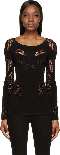 McQ Black Mesh Top @ssense - Fashion Fantasy - Darkness
